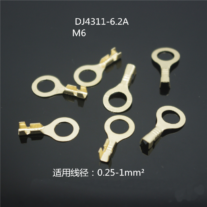 6.2 Round terminal block M6 ring lug DJ4311-6.2A/B brass tin thickness 0.4mm
