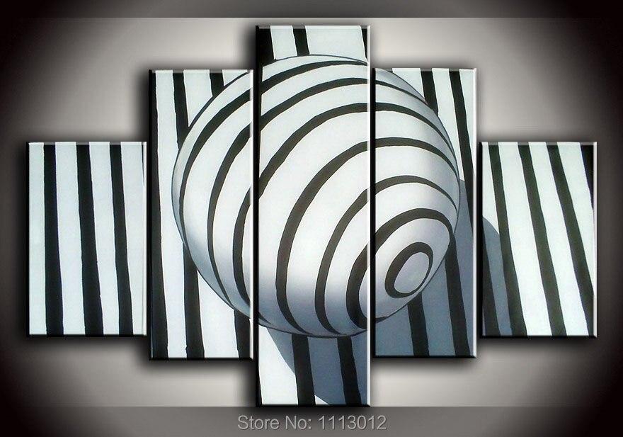 5 шт. набор картина маслом Современный абстрактный белый серебристый линии Фиолетовый на холсте стены Книги по искусству дома Гостиная укра...