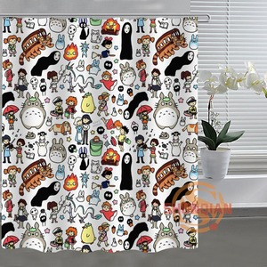 Image 4 - Занавеска для душа Ghibli Totoro, занавеска для ванной комнаты, декор для ванной комнаты, H03M26D37