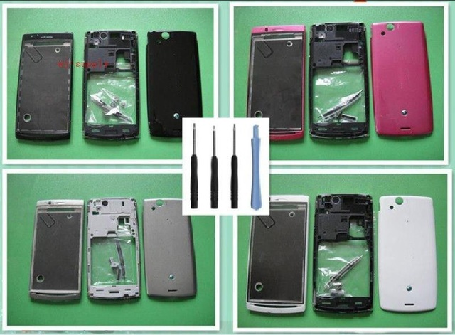 Full Original Housing Front Chassis Frame+Back Battery Cover+Button keypad+Kits for Sony Xperia Arc S LT15i LT18i X12