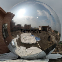 large size inflatable mirror balloon,silver golden blue red mirror inflatable ball Catwalk Show pvc material decoration balloon