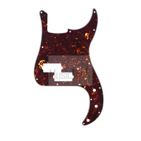 Celluloid Dark Brown Tortoise 4Ply P Bass Pickguard For US Mexico Standard PB Precision Bass Style