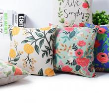 2016 Factory Direct Supply European Style Pastoral Flowers And Birds Printing Linen Throw Pillow Cushion For Office Chair
