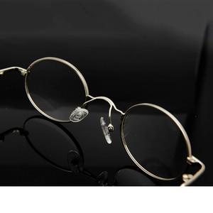 Image 5 - 金属小さなラウンドメガネフレーム男性光学レトロオーバルアイメガネフレーム女性近視メガネ Occhiali ダ Vista ドナ