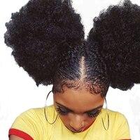 Sunny Queen афро кудрявый вьющиеся Синтетическое закрытие шнурка волос с ребенком волос 100% человеческих Волосы Remy натуральный Цвет Sunny Queen