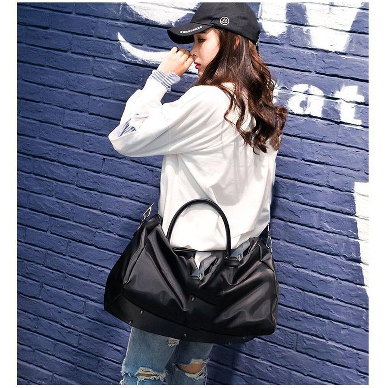 HOYOBISH Korean Style Women Waterproof Travel Bag Large Capacity Duffle Bag Hand Luggage Female Luxury Quality Weekend Bag OH310
