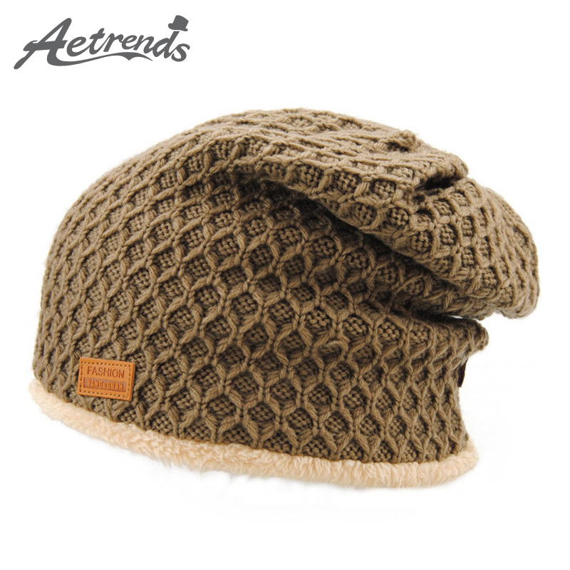 [AETRENDS] 5 Solid Colors Thick Warm Baggy Beaniess