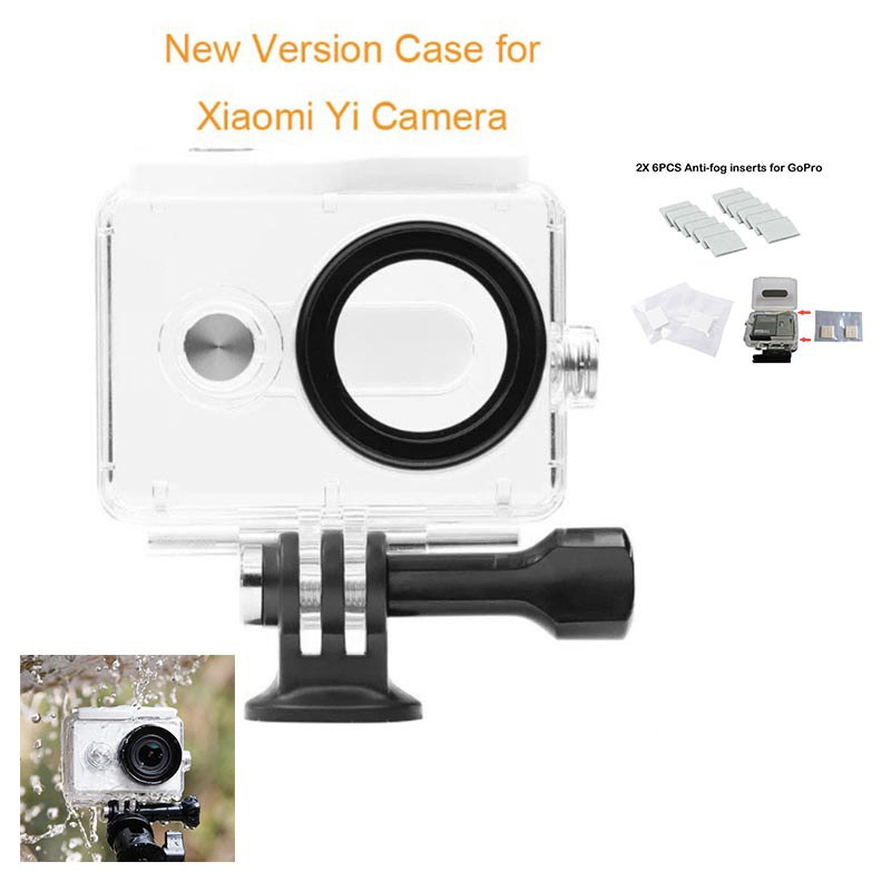Tekcam 30 meters Diving Waterproof Case Housing box with Anti-fog Inserts for XiaoMi Yi Action Camera Accessories