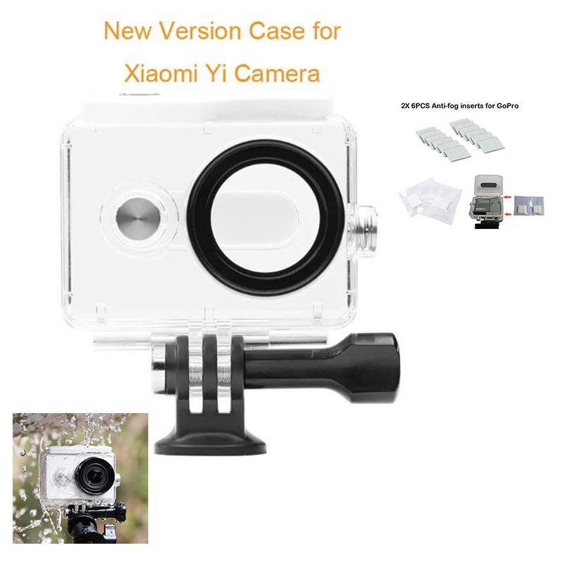 Tekcam 30 metros buceo caja resistente al agua caja con inserciones Anti-niebla para XiaoMi Yi accesorios de Cámara de Acción