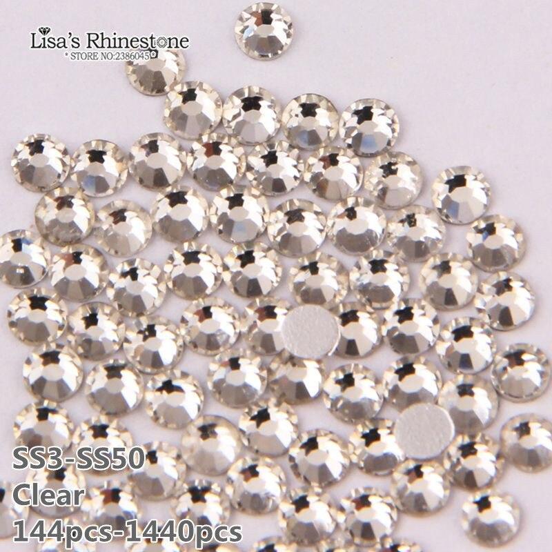Aliexpress Com Buy 1440pcs Gold Bottom Crystal Clear: Aliexpress.com : Buy Fashion Nail Art Rhinestone Crystal