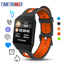 Timethinker W1 IP68 Smart Watch Heart Rate Monitor Fitness Tracker Pedometer Sports Wristband Android IOS pk Fit bit Ionic