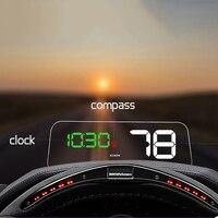 T900 HUD Head Up Display Digital Universal Projection Display with GPS Car Truck Speedometer Display Gauge Diagnostic Tool