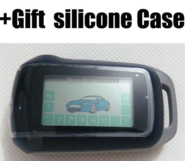 A92 LCD Control Remoto + regalo funda de silicona para la versión rusa de dos vías sistema de alarma del ladrón del coche Starline A92