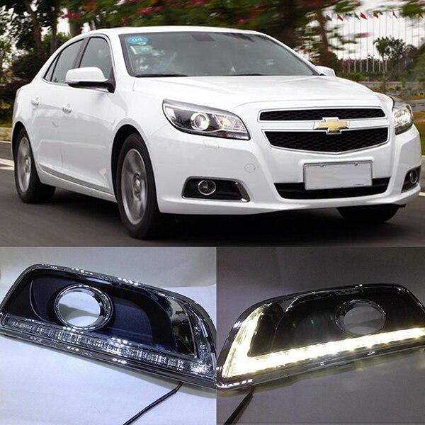 LED Daytime Running Light For Chevy Chevrolet Malibu Fog Lamp DRL 2012 2013 2014 led daytime running light for chevy chevrolet malibu fog lamp drl