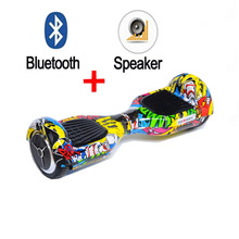 Hot sale 2 wheel Self balance Electric scooter Bluetooth speaker Hoverboard Unicycle Skateboard Standing Drift hover Board