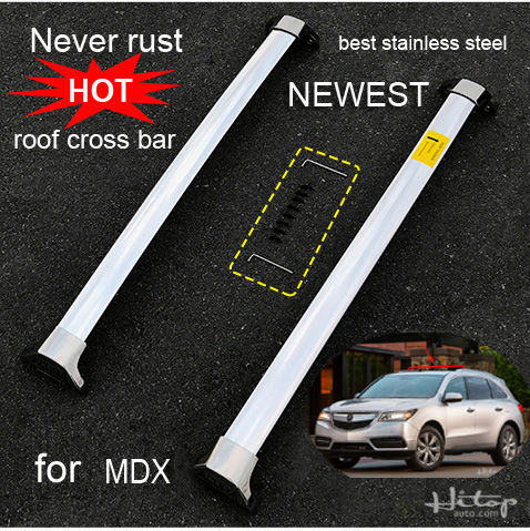 newest <font><b>roof</b></font> rack rail cross bar for Acura <font><b>MDX</b></font> 2014 to 2017,the best stainless steel,loading weight 130KG,ISO quality guarantee