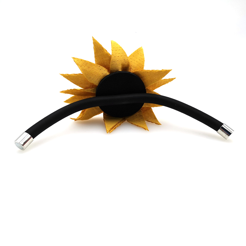 Купить с кэшбэком YD&YDBZ New Sunflower Bracelets Women's Smart Bracelet Harajuku Gothic Style Jewelry Handmade Rubber Hand Chains Girl Accessorie