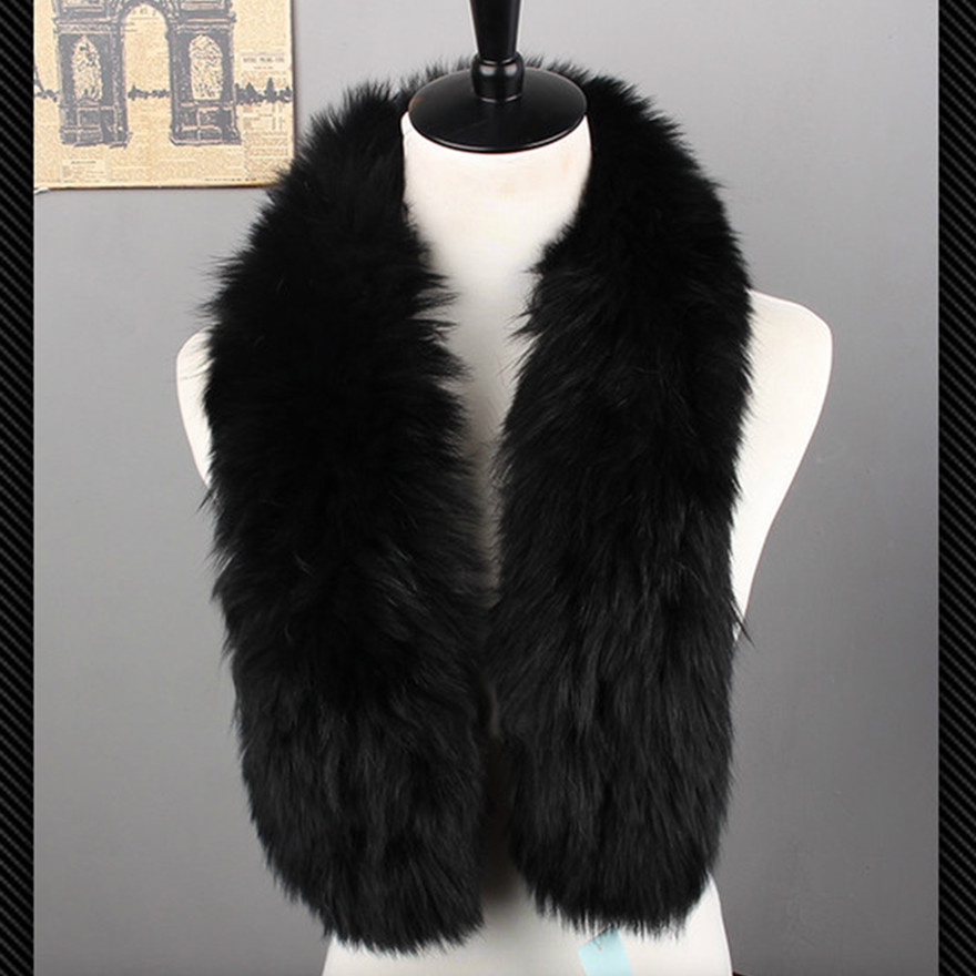 ZY86013 2017 New Arrive Fur Accessory Winter Autumn Lady Real Fox Fur   Scarves     Wraps   Winter Women Neckwarmers Women Neckerchief