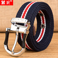 Cinturones de diseñador hombres de las mujeres de alta calidad Famosa Marca de Lona colorida de Lujo Cinturones de golf de Los Hombres ceinture Cinturones hombre Correa de La Cintura