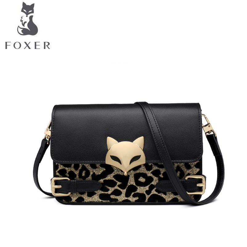 FOXER New women Leather bag luxury handbags women famous brand leather Microfiber material fashion women leather shoulder Bag
