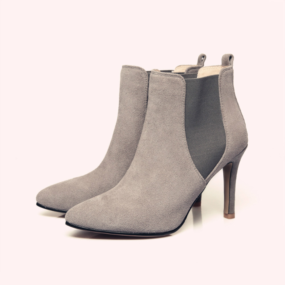 Aliexpress.com : Buy Black/Grey Stiletto High Heel Ankle Boots ...