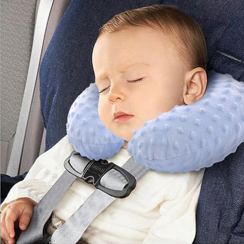 Infant Child Safety Seat Neck Pillow Headrest Travel Car Soft Baby Inflatable