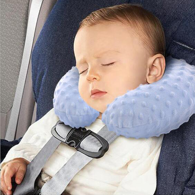 Infant Child Safety Seat Neck Pillow Headrest Travel Car Soft Baby Inflatable Protection