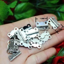 100Pcs Mini Hinge Lace small  silver hinges wooden box hinge 16*13 mm