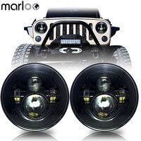 Marloo Car LED 7 Inch Round Headlight Conversion Kit For Jeep Wrangler JK Hummer Harley VW