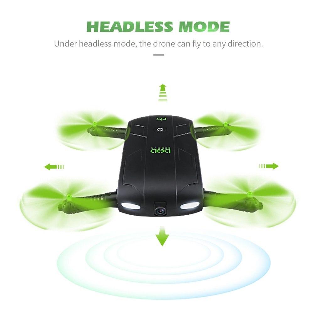 Plegable Selfie Mini RC Drone DHD D5 Wifi FPV altitud mantenga modo 3D voltea y Rolls bolsillo RC Quadcopter Dron con cámara