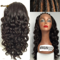 8A Virgin Brazillian Full Lace Front Wig Human Hair Full Lace Wigs With Baby Hair Lace Front Wigs Blenched Knots For Black Women