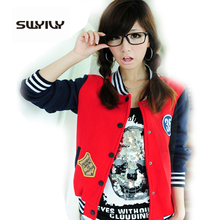 Letter Plus Velvet Size Sweatshirt Female Cardigan Baseball Jacket Women Cotton Coats