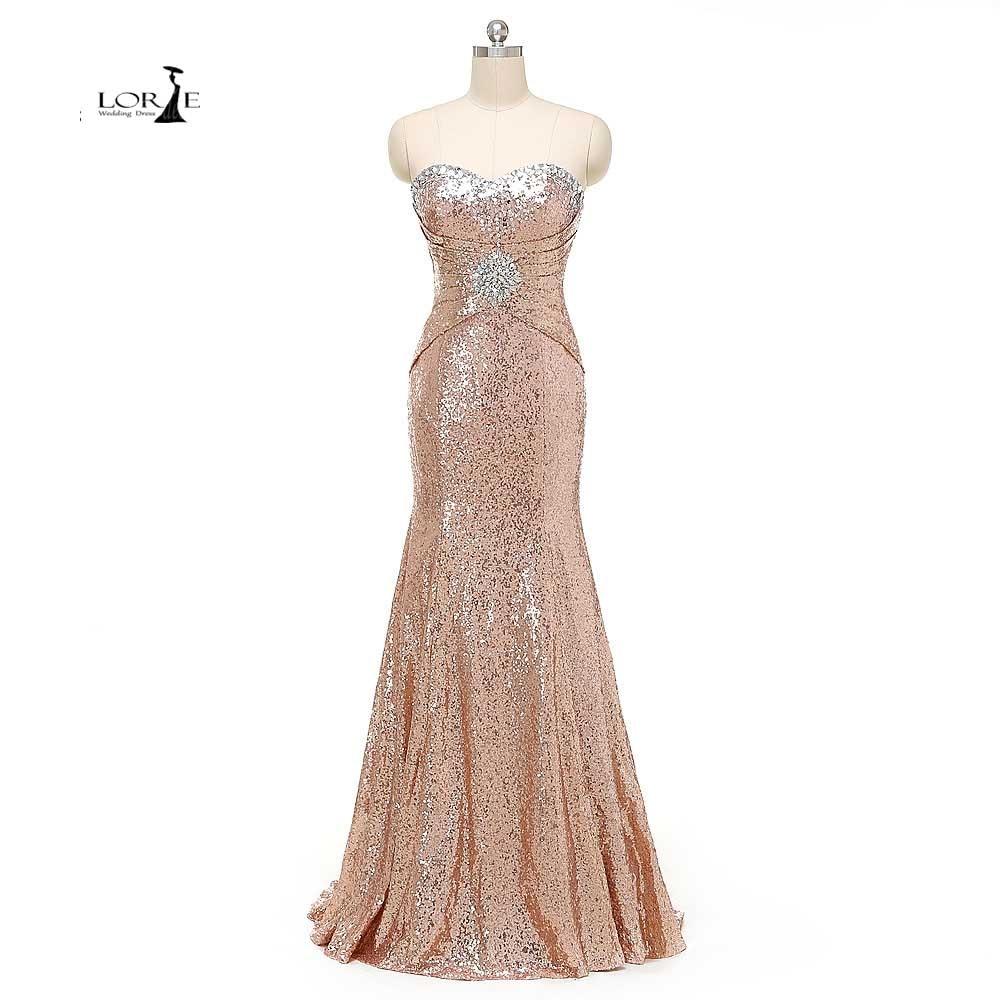 LORIE Images réelles cristaux Sequin robes de bal Mermiad pas cher robe de soirée grande taille robe de soirée pour femme