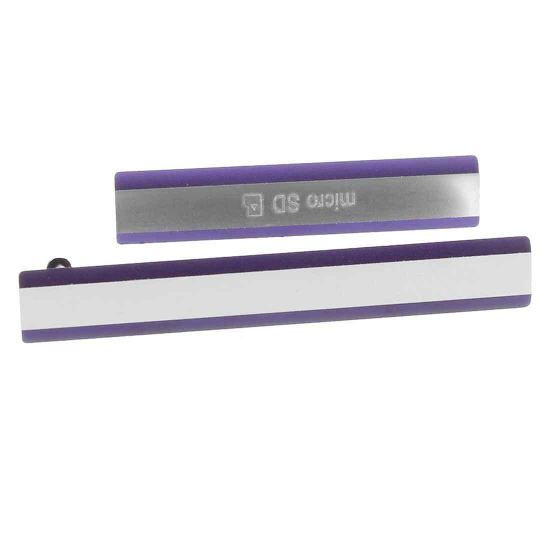 Para Sony D6502 D6503 Xperia Z2 Micro SD + puerto con ranura para tarjeta SIM tapa púrpura