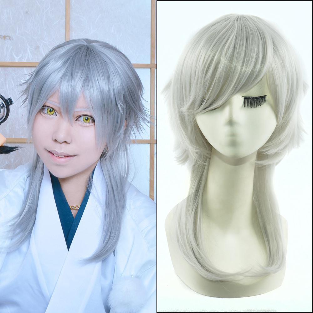 50cm white medium straight anime