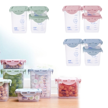 1PC Cereal Dispenser Storage Box With Lid Food Rice Pasta Container Dry Bin 3 Sizes Dec4 lid