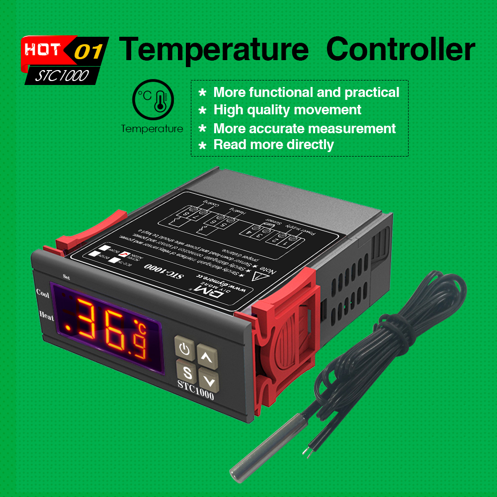 STC-1000 STC 1000 LED Digital Thermostat for Incubator Temperature Controller Thermoregulator Relay Heating Cooling 12V 24V 220V