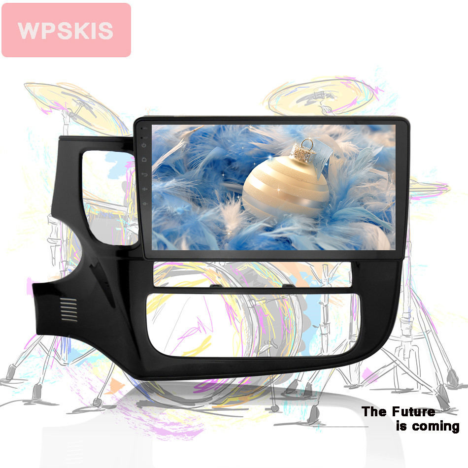 10 touch screen Car navigation gps dvd Video player 4G for mitsubishi outlander 2016 2019 octa