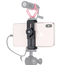 Ulanzi ST-02L Phone Tripod Mount Smartphone Clip w Quick Release Plate Cold Shoe Flexible for Microphone or Photographic Lights
