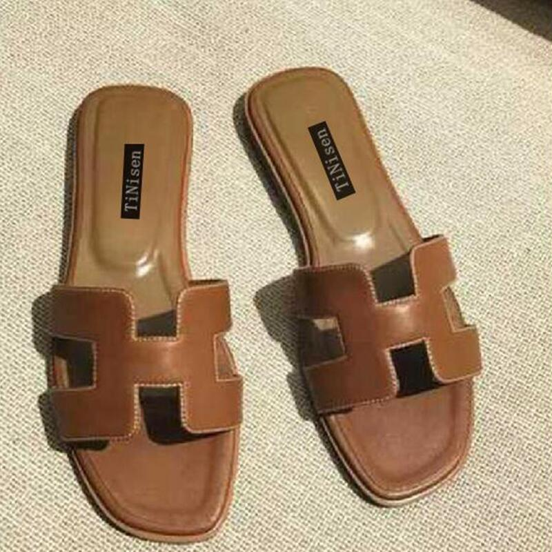 women sandals platform shoes leather womens sandals flat summer 2018 Casual Slip-On High Quality shoes size 34-40 fujin brand 2018 summer shoes for women platform sandals with high heel lady leather shoes footwear pink leather slip on sandals