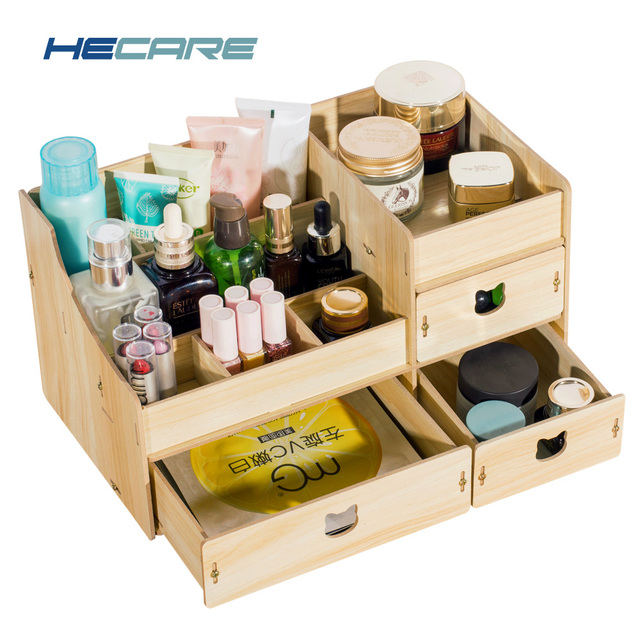 Storage Jewelry Box Wooden Container Makeup Organizer Case Embly Cosmetic Wood Bo For Office Debris