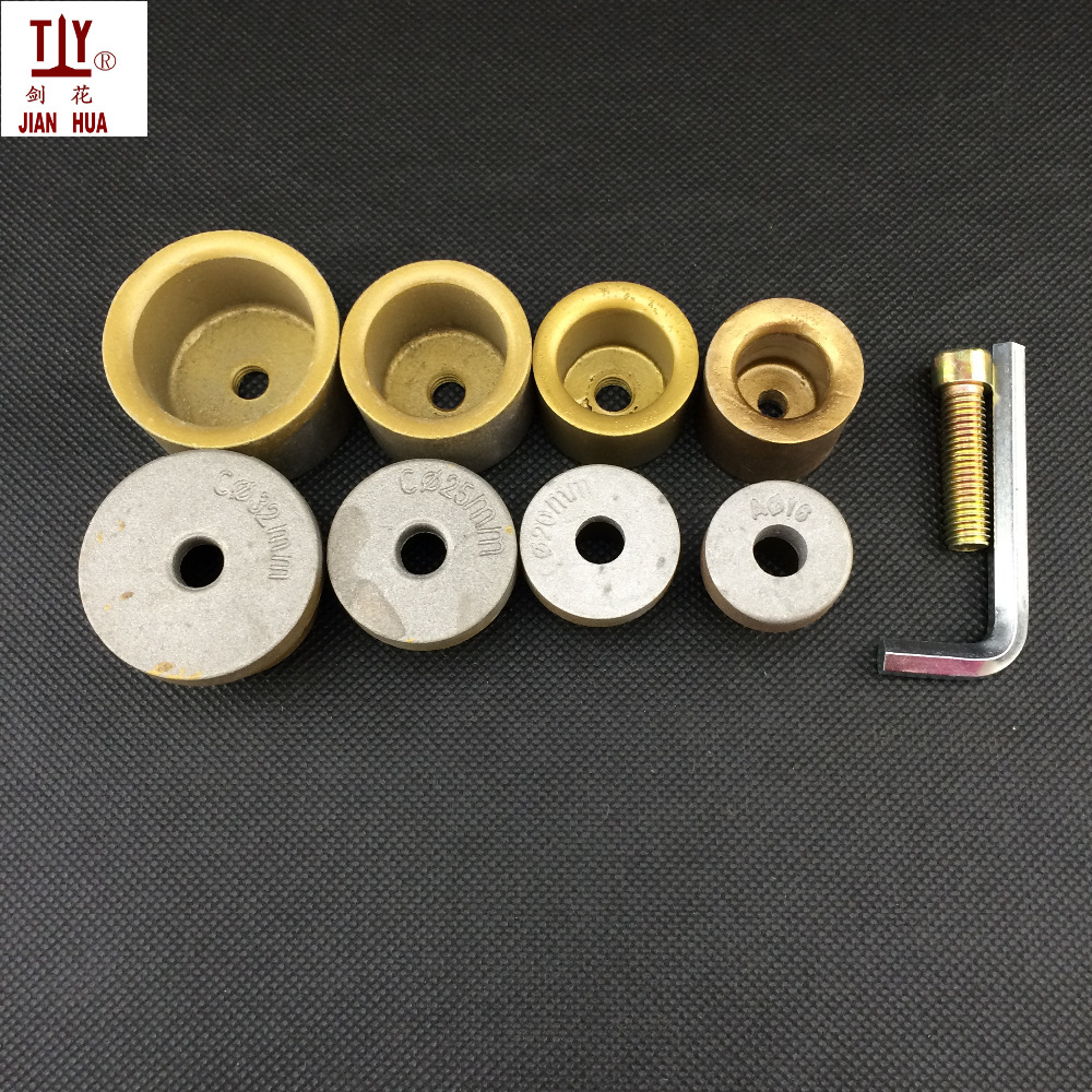 New 4pcs/set Medium Welding Parts Die Head, 16-32mm Golden Welding Mold, PPR PE,PB Water Pipe Hotmelt Butt Welding