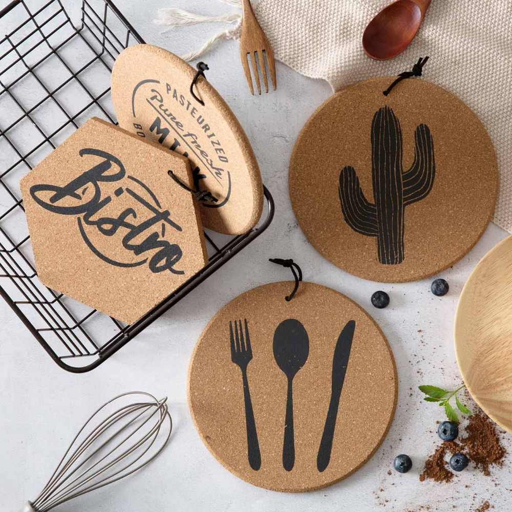 OTHERHOUSE Soft Wooden  Coaster Cup Stand Pot Mat Pad Bowel Holder Stand Hot Table Mat Coasters Napkins On The Table
