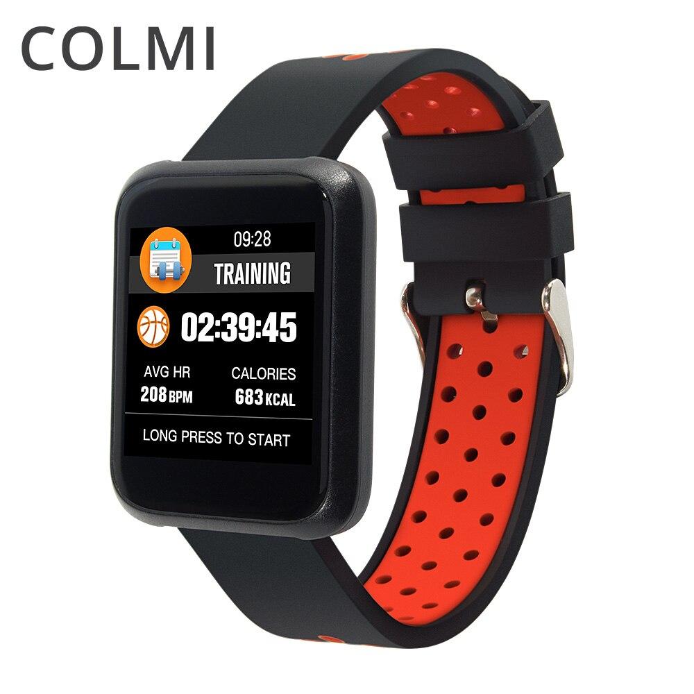 COLMI Sport3 Homens Relógio Inteligente Pressão Arterial IP68 À Prova D' Água Relógio de Fitness Rastreador Smartwatch Para Android IOS Dispositivos Wearable