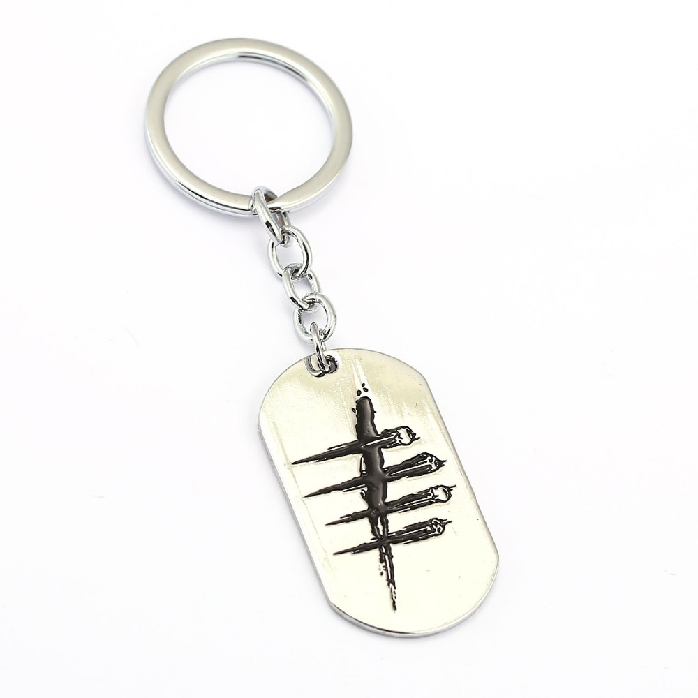 MS Jewelry Dead by Daylight Keychain 2017 NEW Men Key Rings Holder Gift Chaveiro Car Key Chain Jewelry Game Souvenir