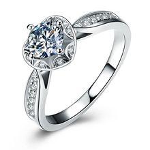 1000a0b4796c 0.35 CT f-g Si diamante Anillos para mujer corazón anillo de compromiso  joyería 18 K oro Joyería fina regalo del Día de las muje.