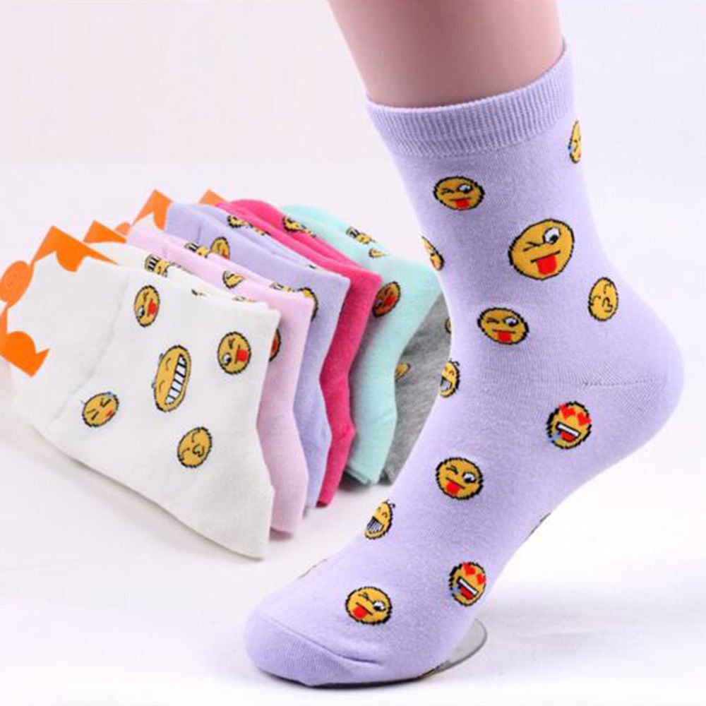 Baby Kids Sok Emoji Pepa Pigets Meias Feminina Low Ankle Lovely - Kinderkleding