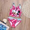 Baby Girl ropa Del Cabrito fijaron Minny Mickey Mouse Del traje de Baño traje de Baño traje de Baño de Los Niños ropa de La Muchacha 2-7 T