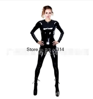 2017 Gothic Sexy Black Bright PVC Faux Leather Catsuit Jumpsuits & Playsuits Costume Club Wear S XXL