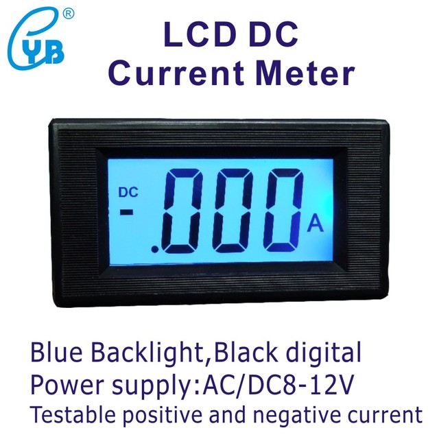 YB5135D LCD Digital DC Current Meter DC 200mA 2A 5A 10A 20A 50A 100A on